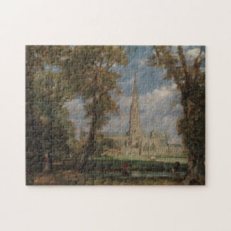 Salisbury Cathedral from the Bishop's Grounds Jigsaw Puzzle