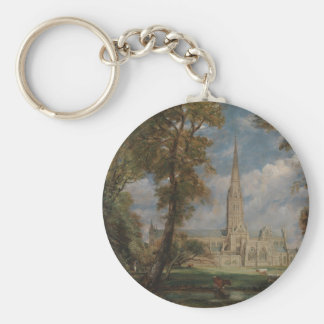 Salisbury Cathedral from the Bishop's Grounds Keychain