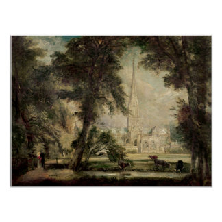 Salisbury Cathedral from the Bishop's Grounds Print
