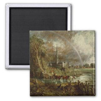 Salisbury Cathedral From the Meadows, 1831 Magnet