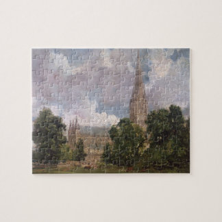 Salisbury Cathedral from the south west Jigsaw Puzzle