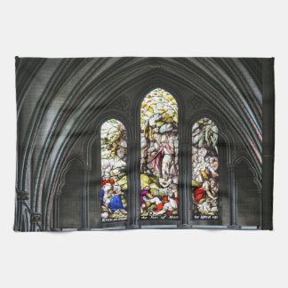 Salisbury Cathedral Transept Stained Glass Window Kitchen Towel