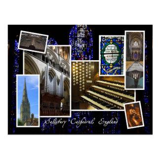 Salisbury Cathedral, UK - montage  postcard