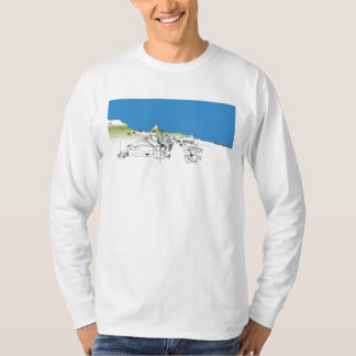 Salisbury Rd, Woodstock, Cape Town. Ciel bleu T-shirt