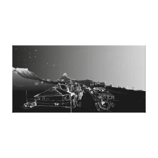 Salisbury Rd, Woodstock, Cape Town. Ciel nocturne Toiles