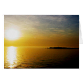 Salish Sea sunrise Card