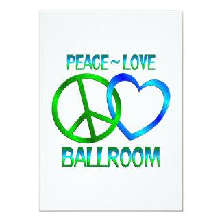 Salle de bal d'amour de paix carton d'invitation  12,7 cm x 17,78 cm