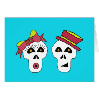SALLY AND SAM SKULL CARD NOTE INVITATION