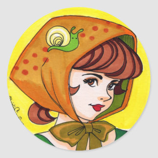Sally and Snail Classic Round Sticker