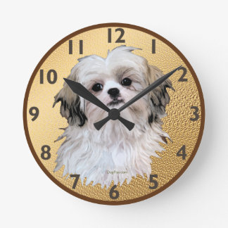 Sally Shih Tzu Round Clock
