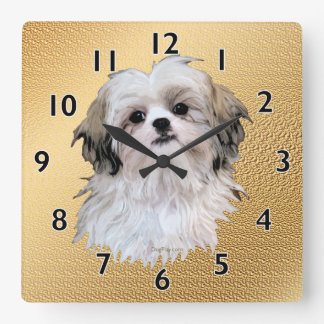Sally Shih Tzu Square Wall Clock