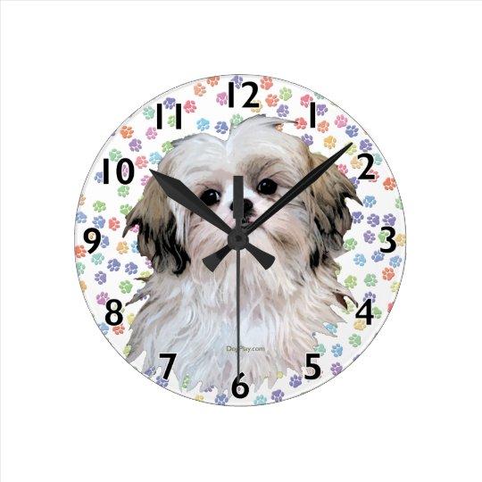 Sally Shih Tzu Wall Clock