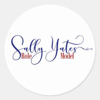 """Sally Yates Role Model"" Typography, 3 Classic Round Sticker"