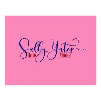 """Sally Yates Role Model"" Typography, 3 Postcard"