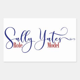 """Sally Yates Role Model"" Typography Sticker"