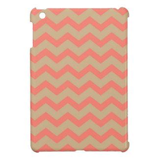 Salmon and Tan Chevron iPad Mini Case