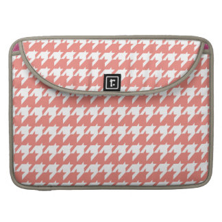 Salmon and white houndstooth sleeves for MacBooks
