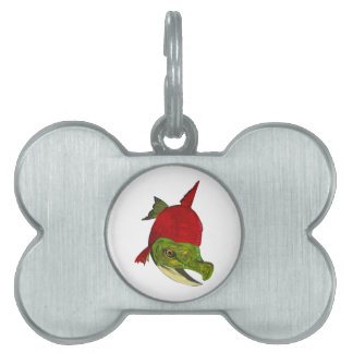 Salmon Beauty Pet ID Tag