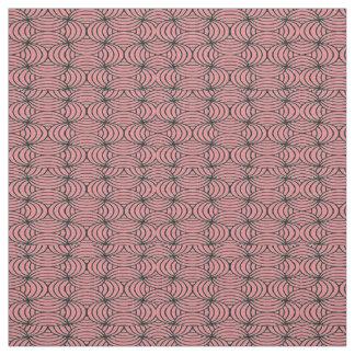 Salmon & Black Abstract Pattern Fabric
