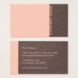 Salmon Brown Modern Business Card