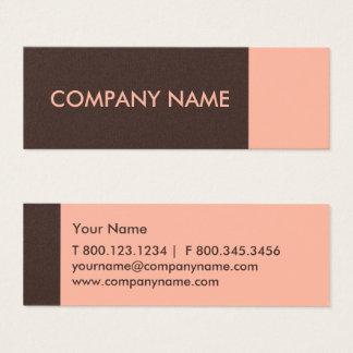 Salmon Brown Modern Mini Business Card