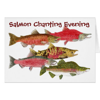 Salmon Chanting Evening Card