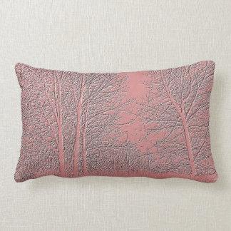 Salmon Embossed Lumbar Pillow
