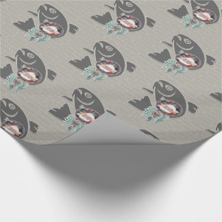 Salmon Fish and Dream Catcher Native American Wrapping Paper