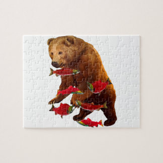Salmon fishing jigsaw puzzle