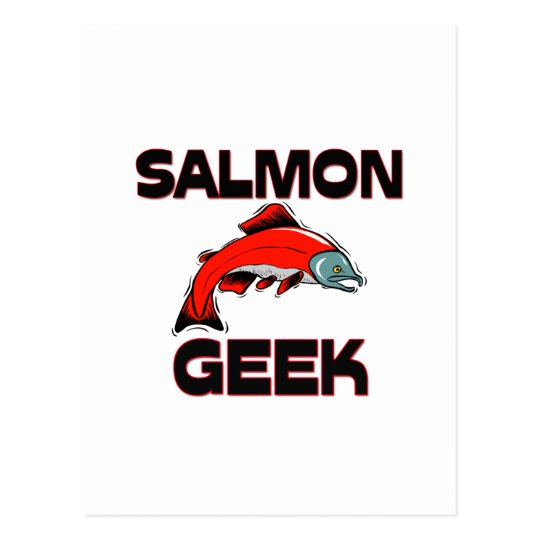 Salmon Geek Postcard
