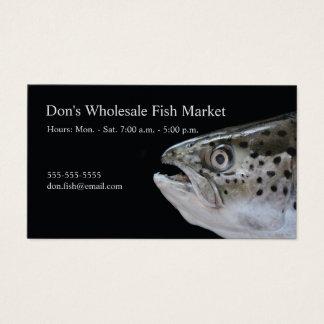 Salmon head business card