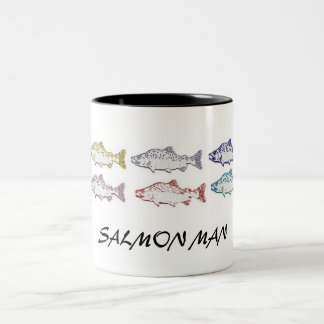 SALMON MAN, COFFEE CUP