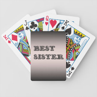 Salmon metallic Best Sister Bicycle Playing Cards