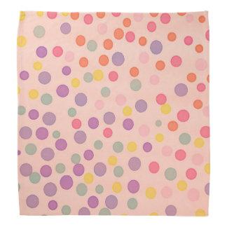 Salmon pastel pink multicolor dots bandana