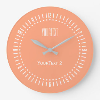 Salmon Pin Accent Color to Personalize on Large Clock