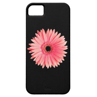 Salmon Pink Daisy on Black - Customized Daisies Case For The iPhone 5