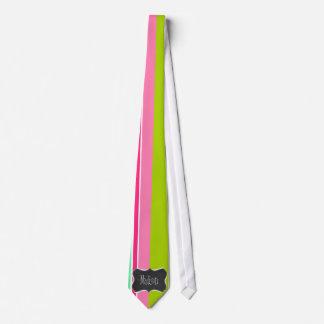 Salmon Pink & Seafoam Green; Vintage Chalkboard Tie