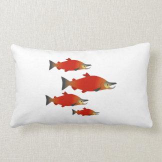 Salmon Rally Lumbar Pillow