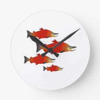 Salmon Rally Round Clock