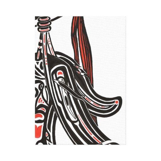 salmon, raven canvas prints