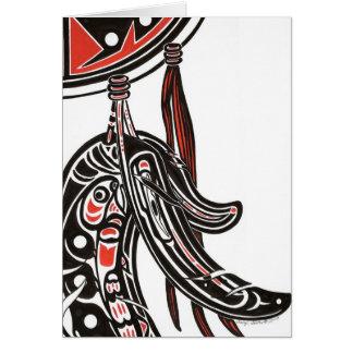 salmon, raven card