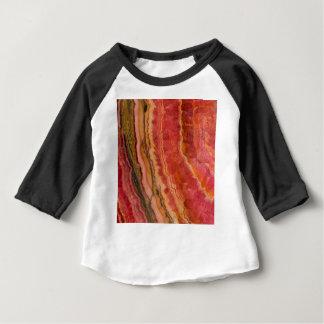 Salmon Striped Quartz Baby T-Shirt