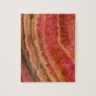 Salmon Striped Quartz Jigsaw Puzzle
