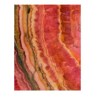 Salmon Striped Quartz Letterhead