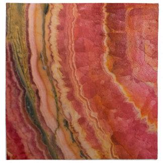 Salmon Striped Quartz Napkin