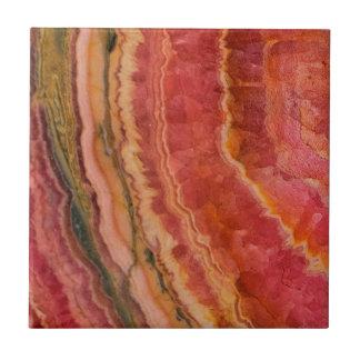 Salmon Striped Quartz Tile