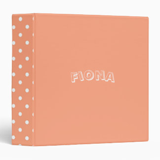 Salmon Sunset Personalized 3 Ring Binders