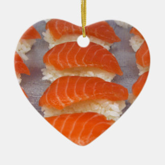 Salmon Sushi - Sashimi Ceramic Ornament
