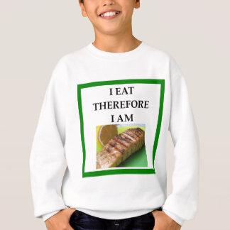 salmon sweatshirt