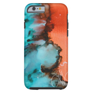 Salmon to Teal iPhone 6 Tough iPhone 6 Case
